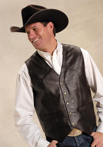 Men's Leather Western Vests