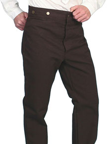 Scully Frontier Canvas Duckins Pant - Walnut - Men's Old West Pants | Spur Western Wear