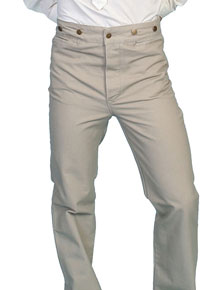 Scully Frontier Canvas Duckins Pant - Sand - Men's Old West Pants | Spur Western Wear