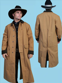 Scully Canvas Duster - Brown - Men's Frock Coats and Dusters | Spur Western Wear