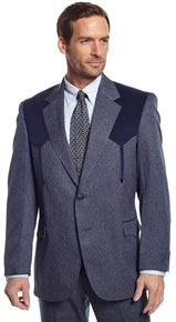 Circle S Boise Western Suit Coat - Heather Navy - Men's Western Suit Coats, Suit Pants, Sport Coats, Blazers | Spur Western Wear