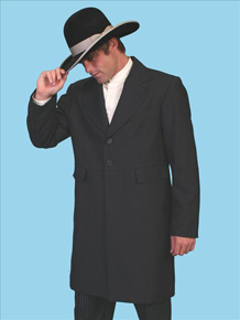 Wah Maker Highland Frock Coat - Black - Men's Old West Vests And Jackets | Spur Western Wear