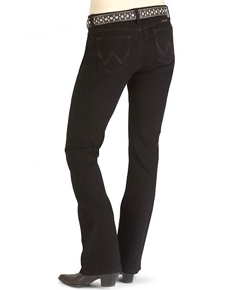 Wrangler Q-Baby Ultimate Riding Slim Fit Jeans - Black - Ladies' Western Jeans | Spur Western Wear