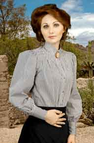 Frontier Classics Pioneer Blouse - Black Stripe - Ladies' Old West Blouses | Spur Western Wear