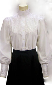 Frontier Classics Laura Blouse - White - Ladies' Old West Blouses | Spur Western Wear