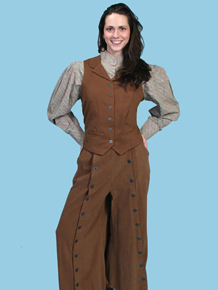 Scully Brushed Twill Riding Skirt - Brown - Ladies' Old West Skirts and Pants | Spur Western Wear