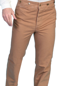 Scully Frontier Canvas Duckins Pant - Brown - Men's Old West Pants | Spur Western Wear