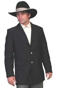 Scully Town Coat - Black - Men's Old West Vests and Jackets | Spur Western Wear