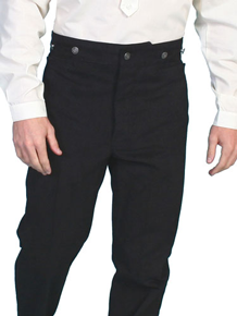 Wah Maker Brushed Cotton Frontier Pant – Black - Men's Old West Pants | Spur Western Wear