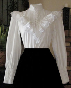 Frontier Classics Ruffled Blouse - White - Ladies' Old West Blouses | Spur Western Wear