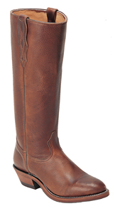 Boulet Deertanned Stove Pipe Cowboy Boot - Round Toe - Brown - Men's Western Boots | Spur Western Wear