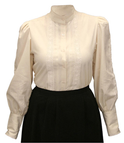Frontier Classics Grace Blouse - Ivory - Ladies' Old West Blouses | Spur Western Wear