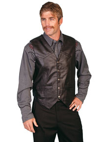 Scully Soft Touch Lambskin Vest – Black - Men's Leather Western Vests and Jackets | Spur Western Wear