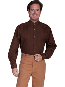 Wah Maker O.C. Smith Shirt - Chocolate - Men's Old West Shirts | Spur Western Wear