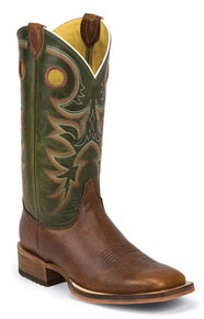 Justin Bent Rail Kerrville Copper Western Boot - Brown - Men's Western Boots | Spur Western Wear