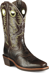 Ariat® Heritage Roughstock Western Boot - Thunder Brown - Men's Western Boots | Spur Western Wear