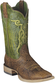Ariat® Mesteño Western Boot - Adobe Clay/Neon Lime - Men's Western Boots | Spur Western Wear