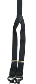 Scully Suspenders - Black - Old West Clothing | Spur Western Wear