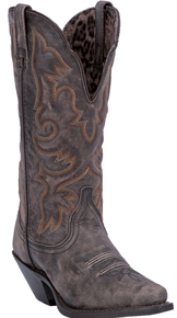 Laredo Access Western Boot - Distressed Black - Ladies' Western Boots | Spur Western Wear