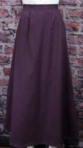 Frontier Classics Cotton Twill Walking Skirt -Purple - Ladies' Old West Skirts and Dresses | Spur Western Wear