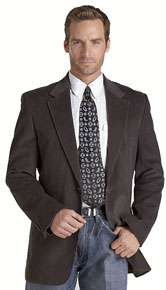 Circle S Corduroy Western Sport Coat - Charcoal - Men's Western Suit Coats, Suit Pants, Sport Coats, Blazers | Spur Western Wear