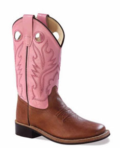 Jama Old West Cowgirl Boot - Pink - Youth - Kids' Western Boots | Spur Western Wear