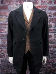 "Frontier Classics ""Gunfighter"" Town Coat - Black,Men's Old West Vests And Jackets 