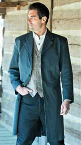 """Tombstone"" Frock Coat,  Men's Old West Vests And Jackets 