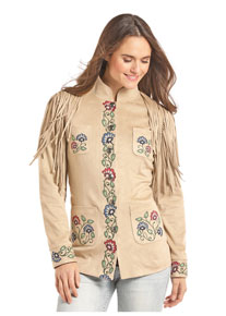 Panhandle Slim Microsuede Jacket - Sand - Ladies' Western Outerwear | Spur Western Wear