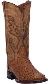 Dan Post Chandler Full Quill Ostrich Western Boot - Brown - Men's Western Boots | Spur Western Wear