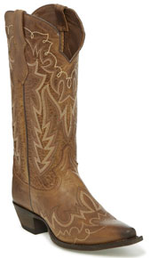 Justin Elina Western Boot - Chocolate - Ladies' Western Boots | Spur Western Wear