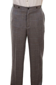 Wah Maker Plaid Pant - Grey - Men's Old West Pants | Spur Western Wear
