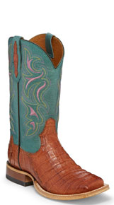 Tony Lama 1911 Leighton Caiman Western Boot - Brandy - Ladies' Western Boots | Spur Western Wear