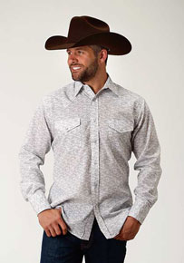 Roper Floral Print Long Sleeve Snap Front Western Shirt - Blue - Men's Western Shirts | Spur Western Wear