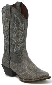 Justin Stampede Calimero Western Boot - Graphite Bomber - Ladies' Western Boots | Spur Western Wear