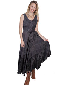 Scully Honey Creek Lace Front Dress - Gun Metal - Ladies' Western Skirts And Dresses | Spur Western Wear