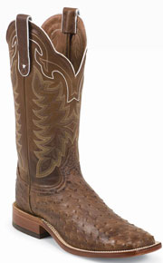 Tony Lama Hays Full Quill Ostrich Western Boot - Chocolate - Men's Western Boots | Spur Western Wear