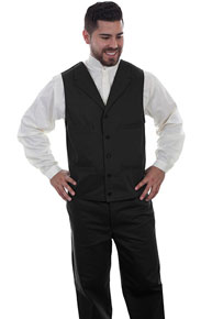 Wah Maker Herringbone Vest - Black - Men's Old West Vests And Jackets | Spur Western Wear