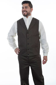 Wah Maker Herringbone Vest - Charcoal Grey - Men's Old West Vests And Jackets | Spur Western Wear