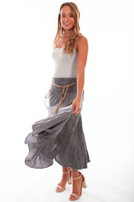 Scully Cantina Skirt - Charcoal - Ladies' Western Skirts And Dresses | Spur Western Wear