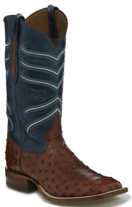 Tony Lama Amell Full Quill Ostrich Western Boot - Brandy - Men's Western Boots | Spur Western Wear