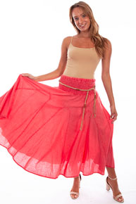 Scully Cantina Skirt - Red - Ladies' Western Skirts And Dresses | Spur Western Wear