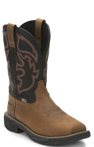 Justin Stampede Rush Waterproof Comp Toe Work Boot - Tan - Style# 02-WK4337-TAN