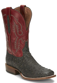 Tony Lama Augustus Grey Full Quill Ostrich Western Boot - Men's Western Boots | Spur Western Wear