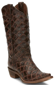 Nocona Bessie Chocolate Western Boot - Ladies' Western Boots | Spur Western Wear