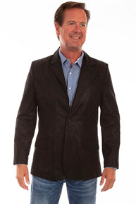Scully Leather Western Blazer - Black - Men's Leather Western Vests and Jackets | Spur Western Wear