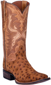 Dan Post Stark Smooth Ostrich Western Boot - Bay Apache - Style# 01-DP4521-BAY