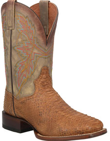 Dan Post Dry Gulch Python Western Boot - Tan - Men's Western Boots | Spur Western Wear