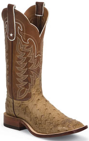 Tony Lama Hays Tan Full Quill Ostrich Western Boot - Men's Western Boots | Spur Western Wear