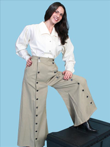 Scully Brushed Twill Riding Skirt - Tan - Ladies' Old West Skirts and Pants | Spur Western Wear